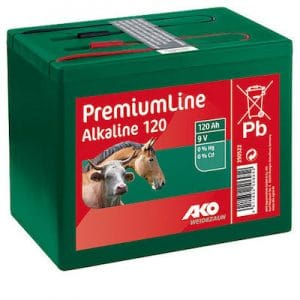 Alkaline 9 Volt 120 Ah Batterien - AKO