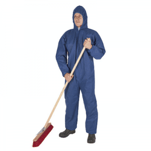 Einwegoverall mit Kapuze blau