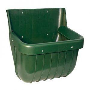 Futtertrog mit Schutzkante grün