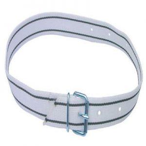 Halsmarkierungsband weiß / schwarz mit Schnalle