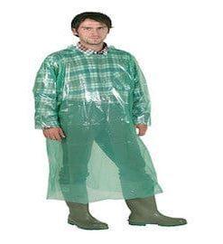 Einwegmantel grün