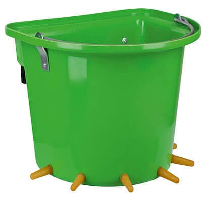 Lammeimer mit 6 Sauger grün