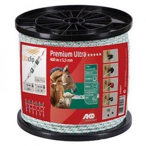 Premium Ultra Weidezaunseil 5,5 mm 400 m - AKO