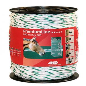 PremiumLine Weidezaunseil 6,5 mm 200 m - AKO