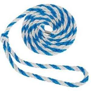 Strick blau / weiß mit großer Schlaufe