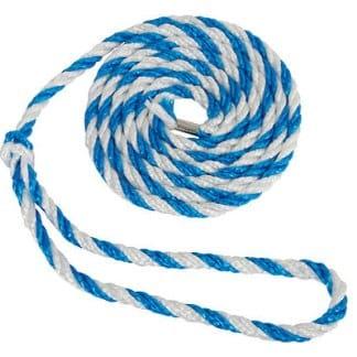 Strick weiß / blau mit großer Schlaufe