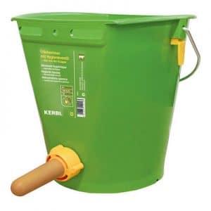 Tränkeeimer mit Hygieneventil grün