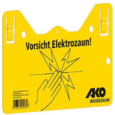 Vorsicht Elektrozaun! Zum Einhängen